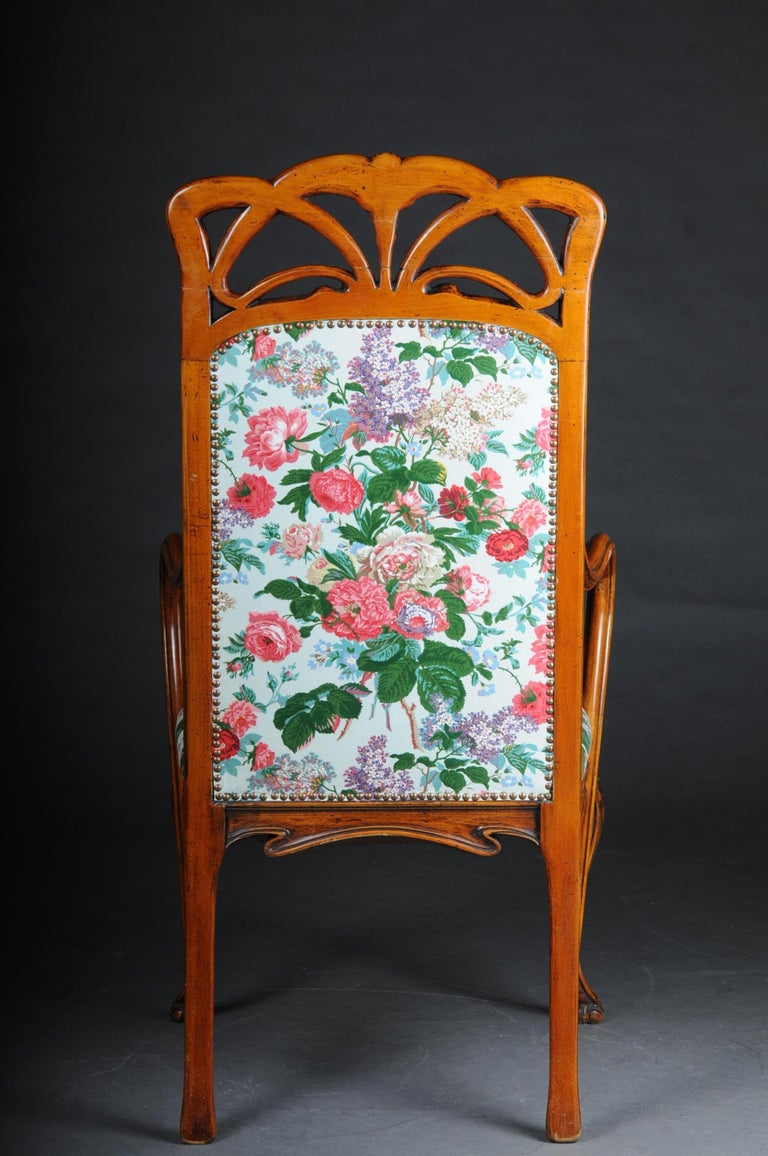 Beautiful Art Nouveau Armchair after L. Majorelle In Good Condition For Sale In Berlin, DE