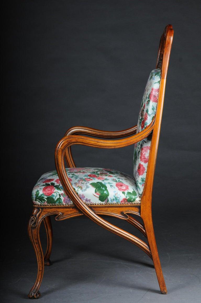 20th Century Beautiful Art Nouveau Armchair after L. Majorelle For Sale