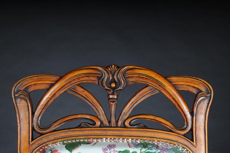 Beautiful Art Nouveau Armchair after L. Majorelle For Sale 2