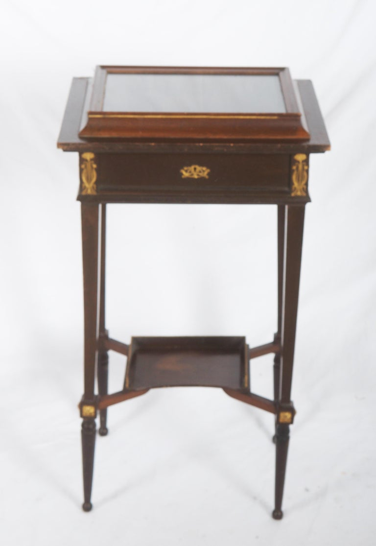 German Beautiful Art Nouveau Display Console Table For Sale