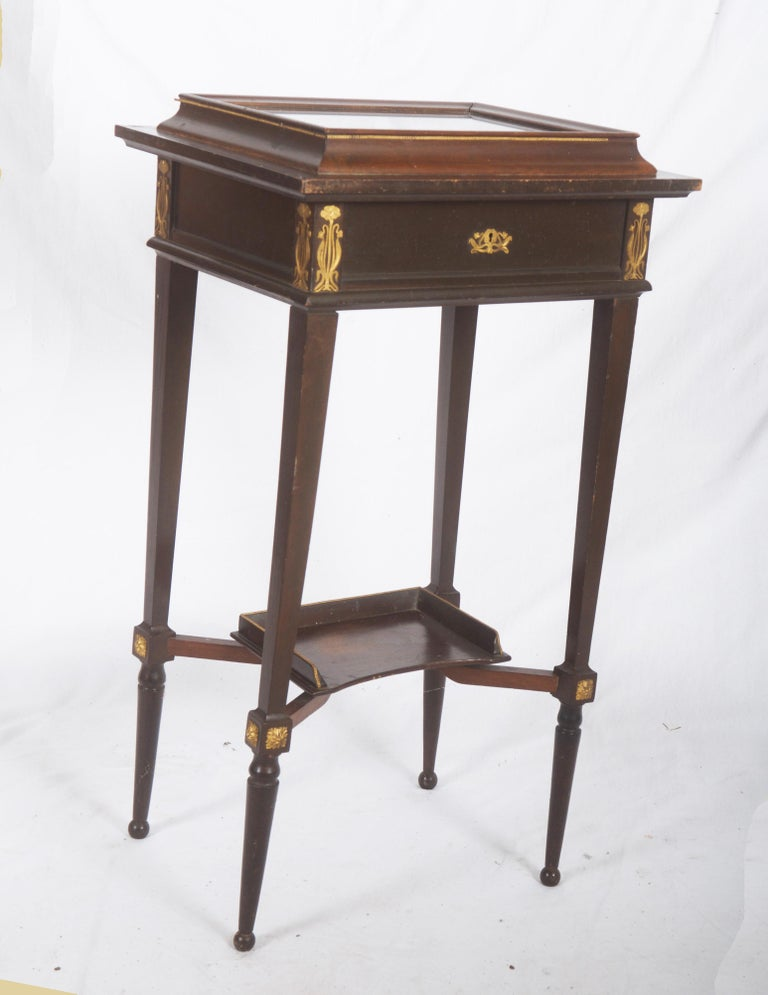 Late 19th Century Beautiful Art Nouveau Display Console Table For Sale