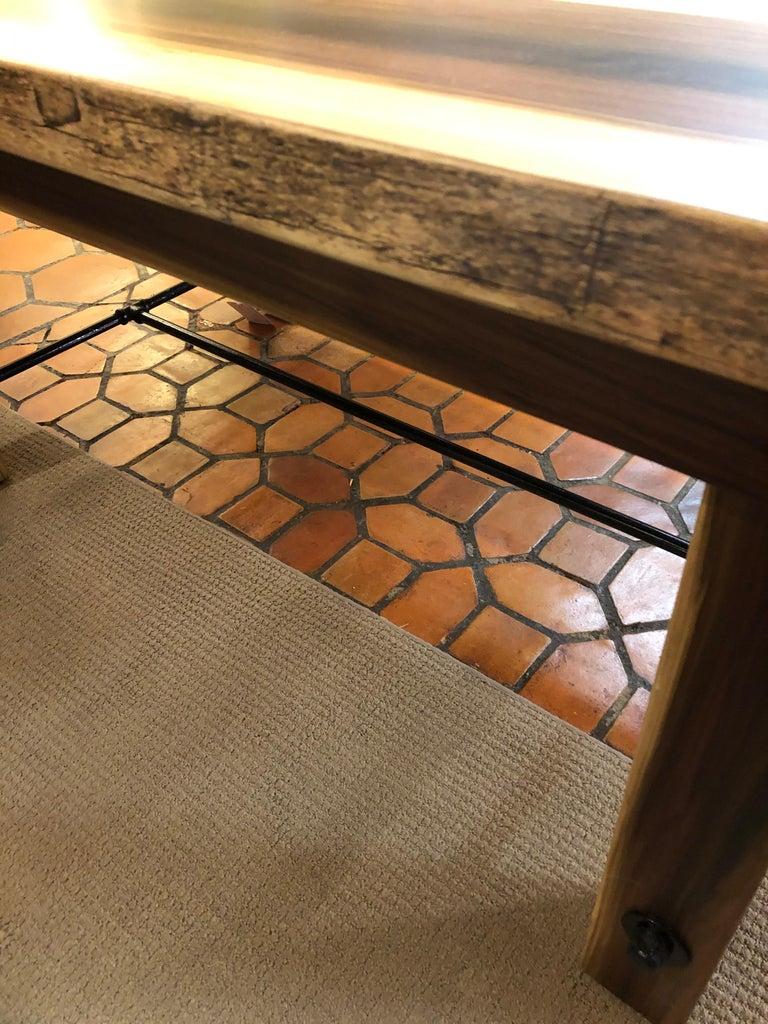 Beautiful Artisan Made Amish Poplar Farm Table For Sale 3