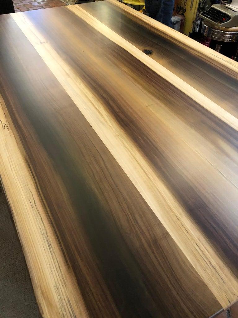 Beautiful Artisan Made Amish Poplar Farm Table For Sale 4