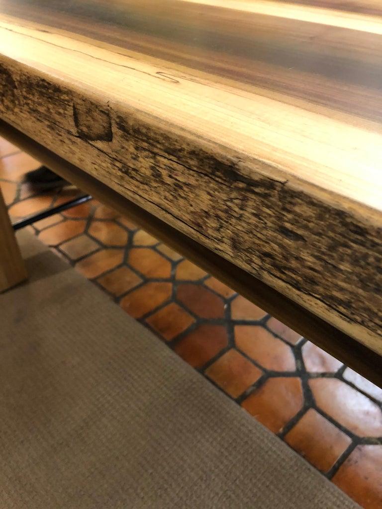 Beautiful Artisan Made Amish Poplar Farm Table For Sale 7