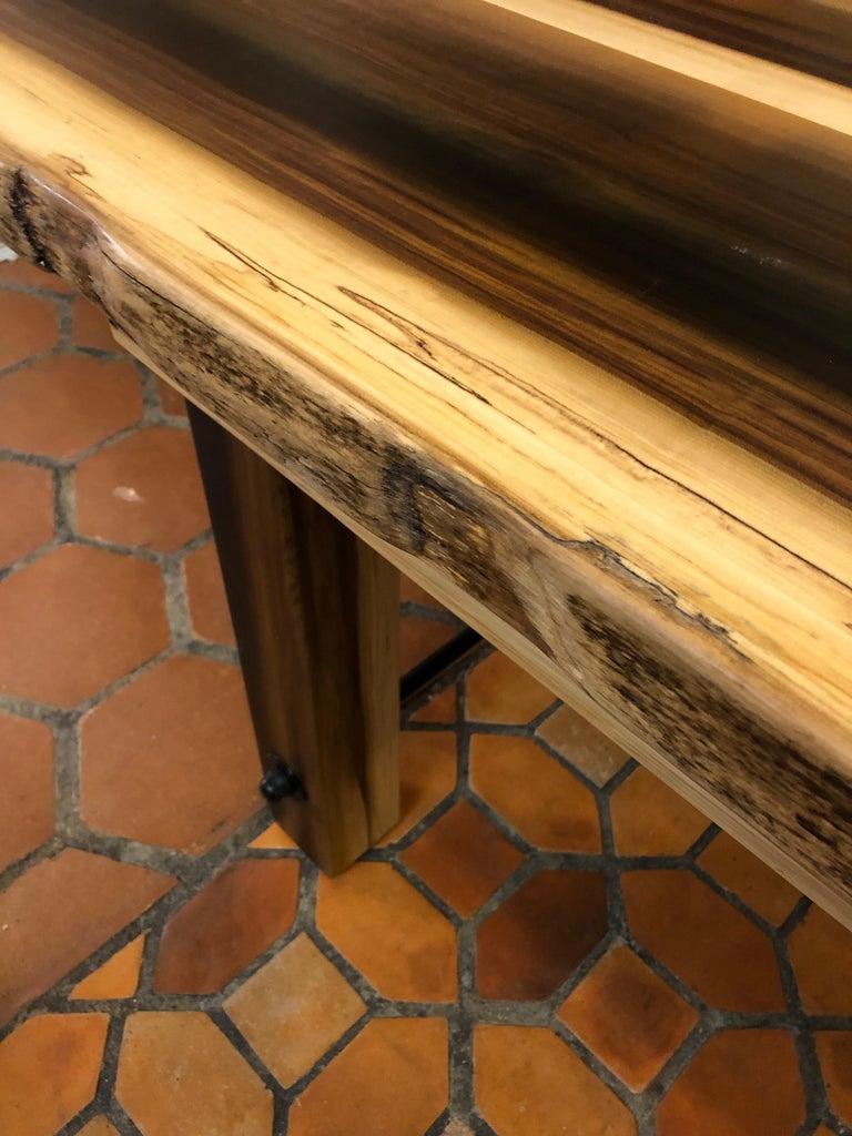 Beautiful Artisan Made Amish Poplar Farm Table For Sale 8