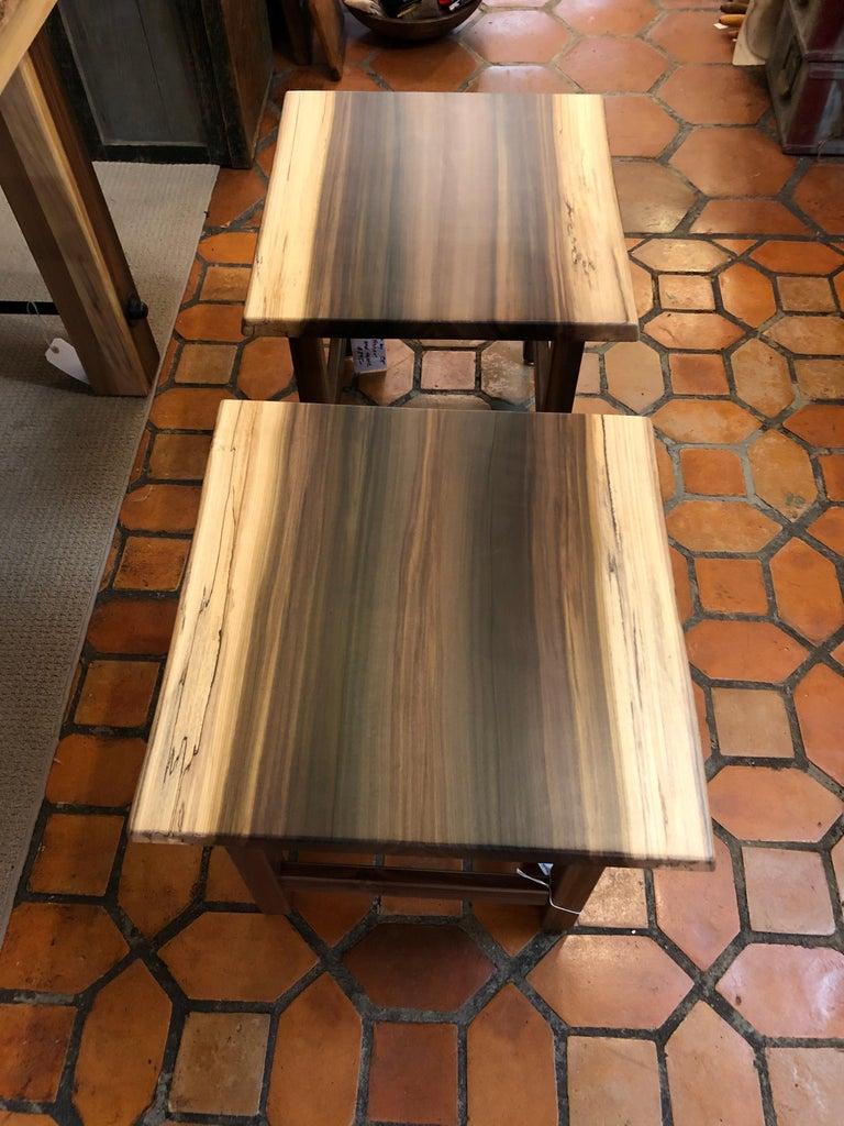 Beautiful Artisan Made Amish Poplar Farm Table For Sale 9