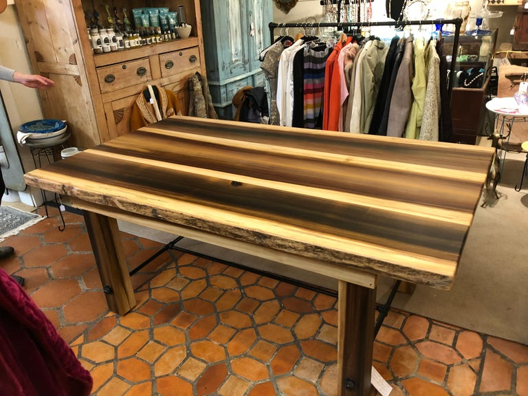 Country Beautiful Artisan Made Amish Poplar Farm Table For Sale