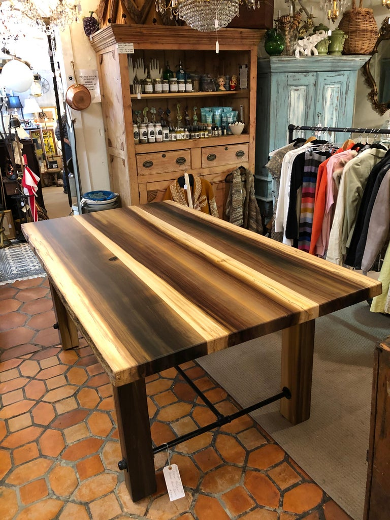 American Beautiful Artisan Made Amish Poplar Farm Table For Sale