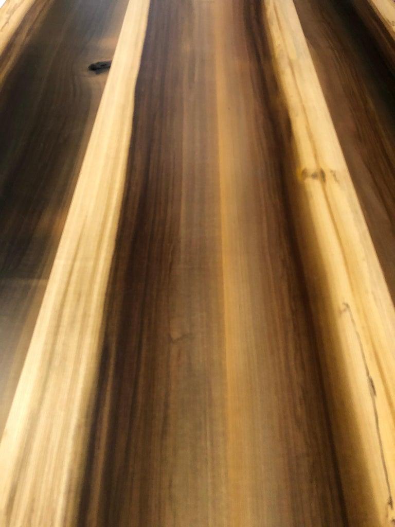 Beautiful Artisan Made Amish Poplar Farm Table For Sale 1