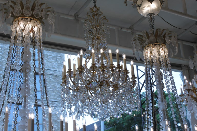 Beautiful Baccarat Crystal and Bronze Chandelier, circa 1850 For Sale 5