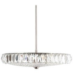 Beautiful Bakalowits Dome Crystal Glass Chandelier, Austria, circa 1955