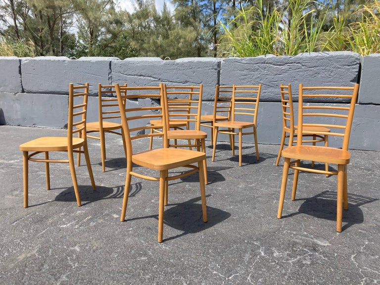 9 beautiful European bentwood dining chairs. Ready for a new home.
