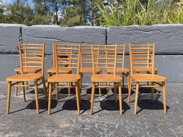 Beautiful Bentwood Dining Chairs, in the Style of Thonet For Sale 2