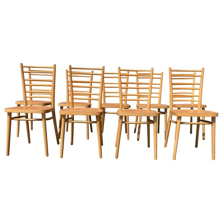 Beautiful Bentwood Dining Chairs, in the Style of Thonet For Sale