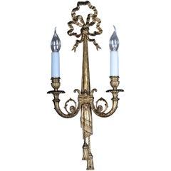 Beautiful Bronze Wall Lamp in Louis XVI Seize