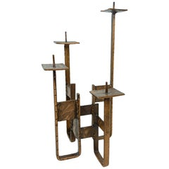 Beautiful Candlestick Holder Brutalist Style, Germany, 1960s