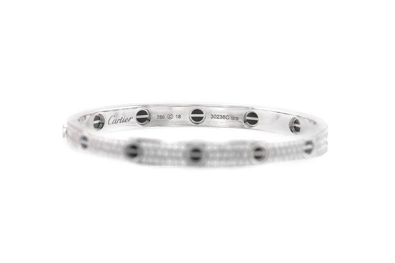 Round Cut Beautiful Cartier Diamond Love Bracelet For Sale