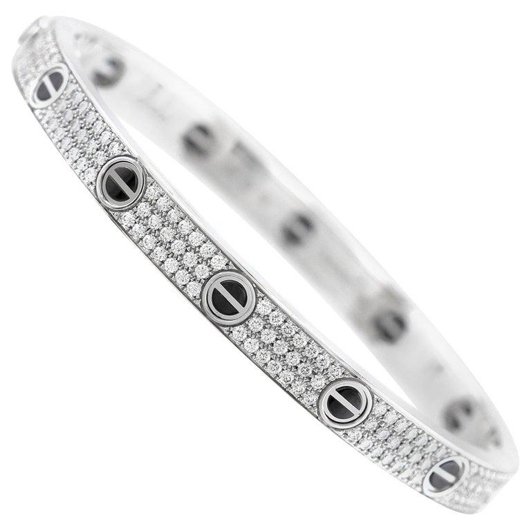 Beautiful Cartier Diamond Love Bracelet For Sale