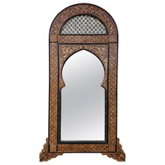 Beautiful Carved Camel Bone Mirror with Indigenous Cedar Wood