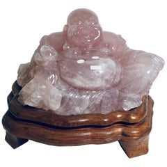 Beautiful Carved Rose Quartz Sculpture