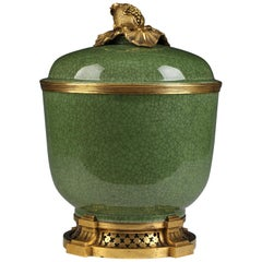 Beautiful Celadon Jar Attributed to L'Escalier de Cristal