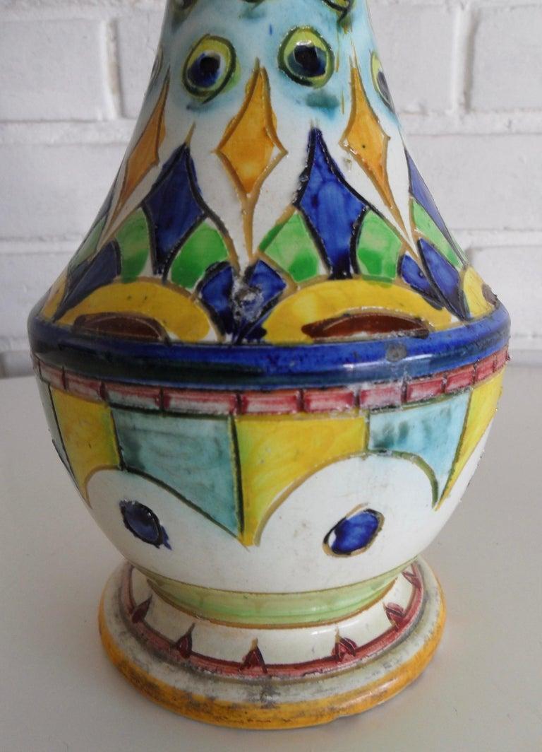 Italian Ceramic Vase, Italy, circa 1950s For Sale
