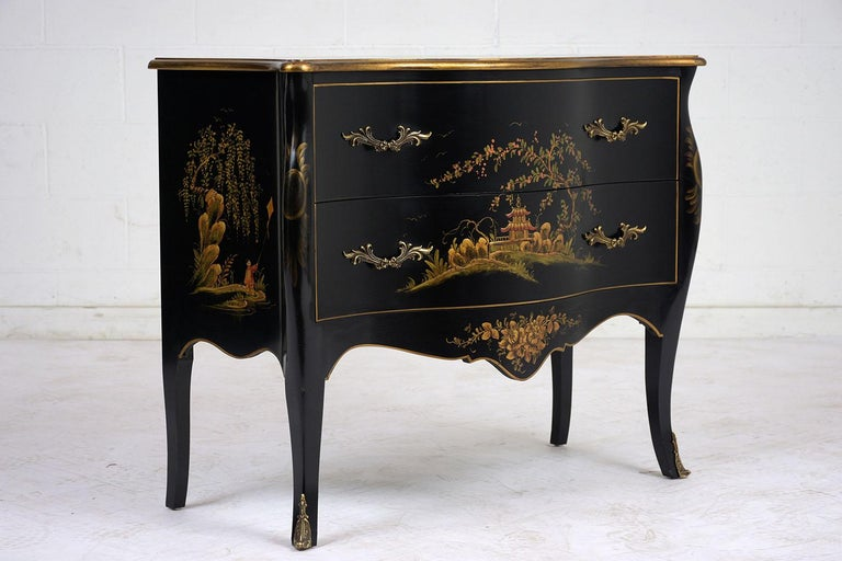 Beautiful Chinoiserie Style Chest of Drawers In Excellent Condition For Sale In Los Angeles, CA