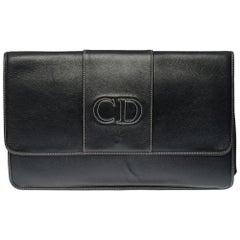 Beautiful Christian Dior Clutch in black leather