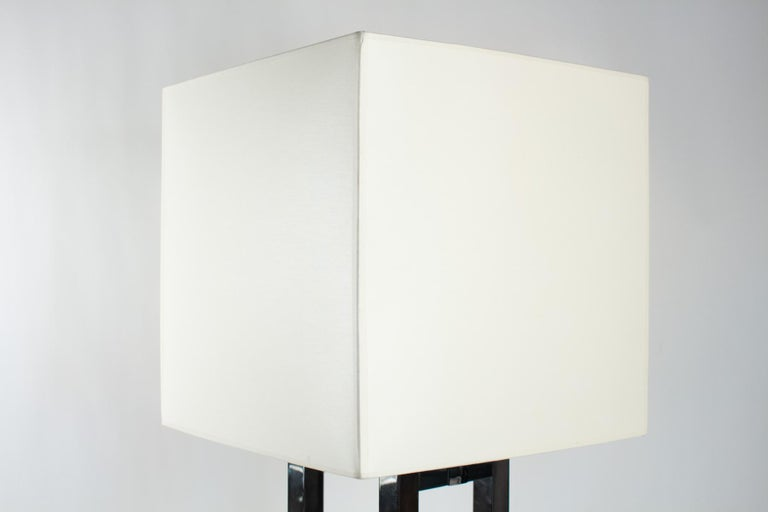 Beautiful Chrome Deluxe Table Lamp by Willy Rizzo for Lumica, Italy, 1970s In Good Condition For Sale In Saint-Ouen, FR