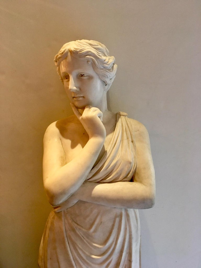 20th Century Beautiful Classical Hand-Carved Life-Sized Statue of Venus For Sale