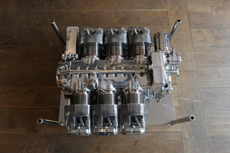 Beautiful Coffee Table Aeronautic from a Continental O-470 In-line Engine
