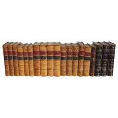 Beautiful Collection of 19th Century, Leather Bound English Books