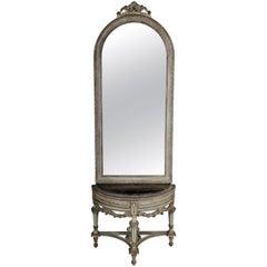 Beautiful Console Mirror in the Louis XVI