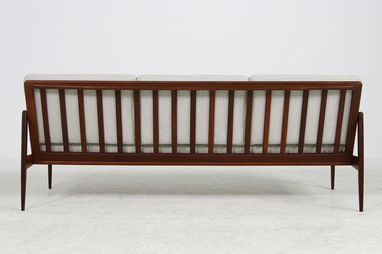 Beautiful Danish 1960s Kofod-Larsen Teak Sofa, Mod. Kandidaten, New Upholstery For Sale 2