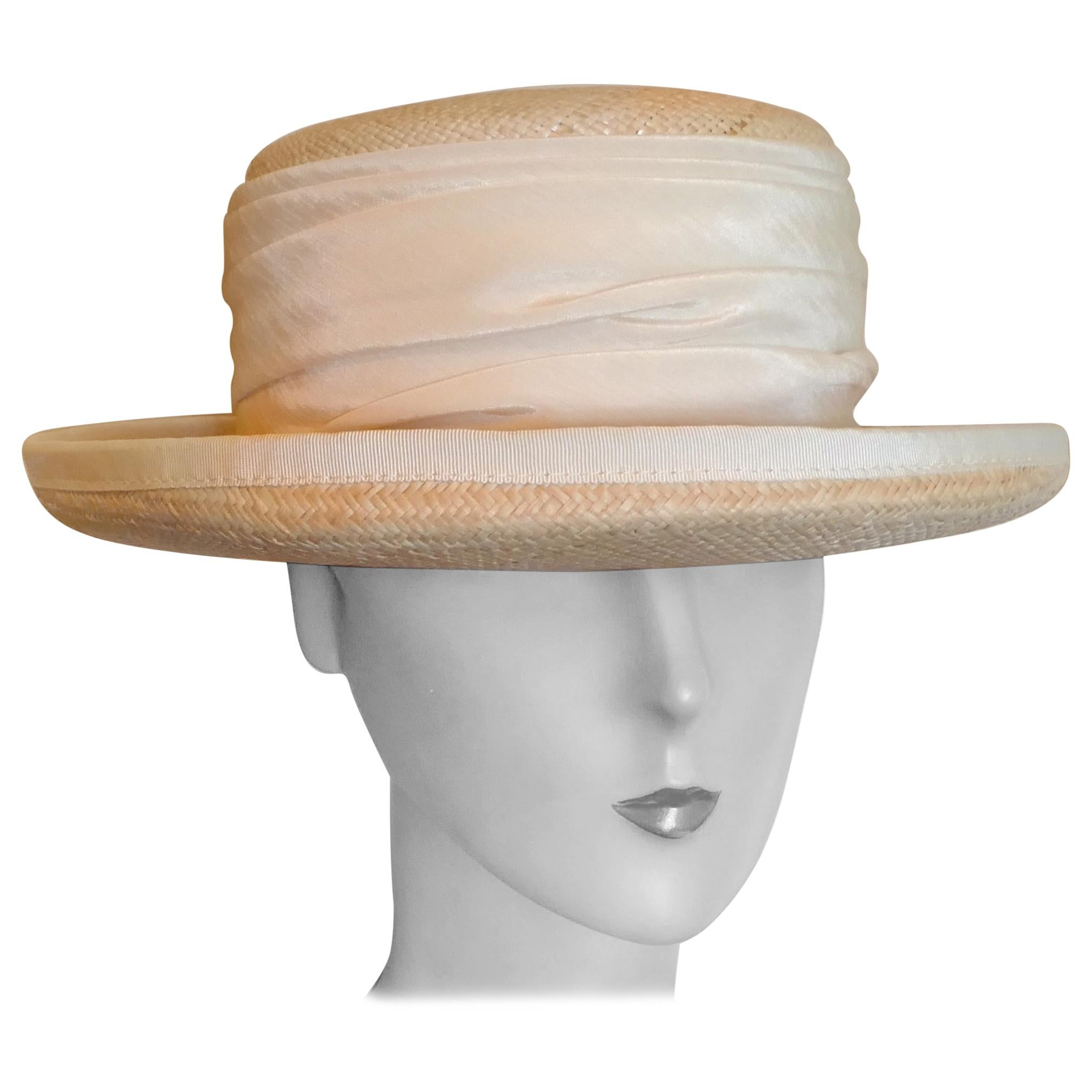 Beautiful Deep Brim Boater Panama Hat by BASKA Design London