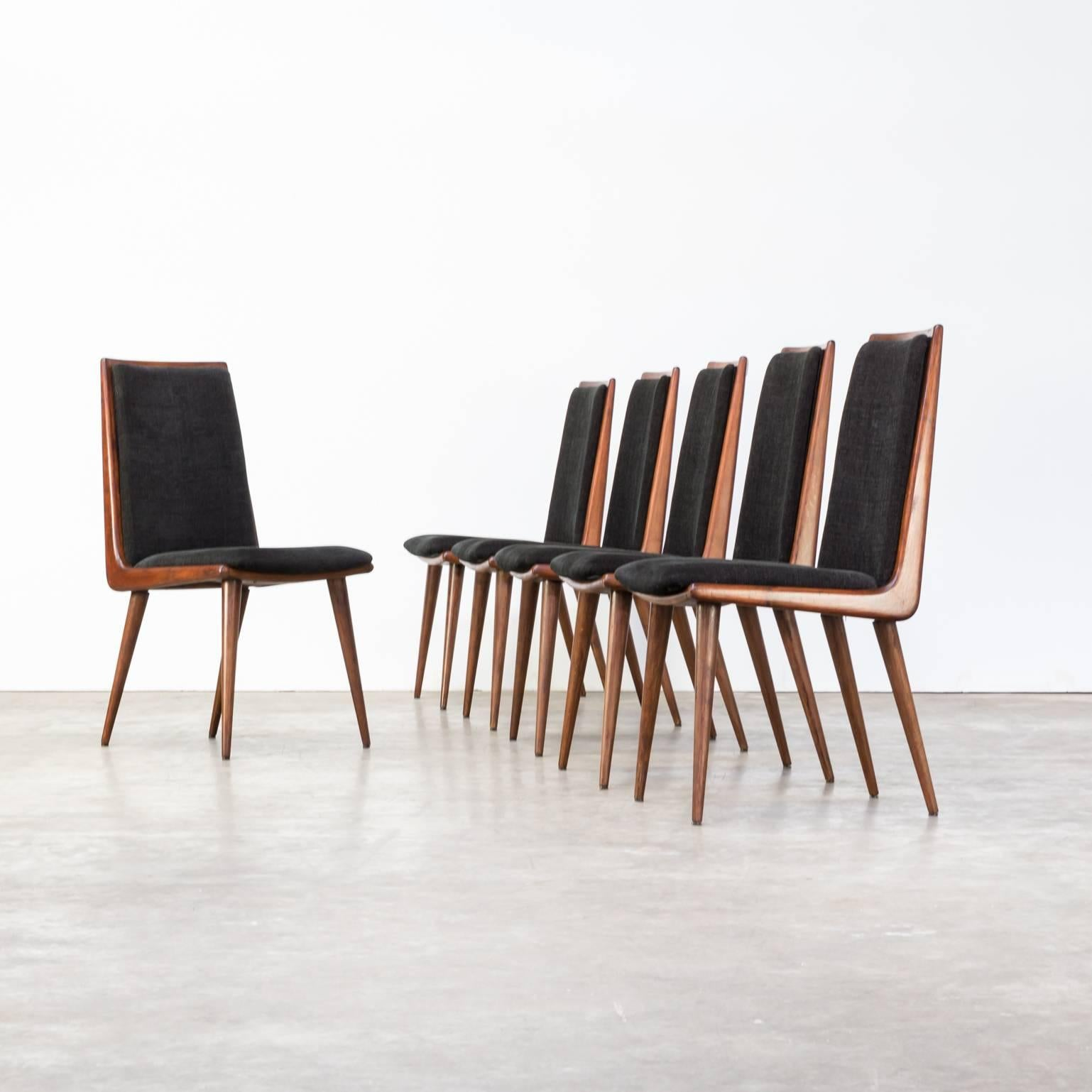 Exceptionnel Beautiful Designed Teak Boomerang Dining Chairs Set Of Six. Re Upholstered  Beautiful Fabric.