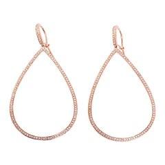 Beautiful Diamond Gold Teardrop Earrings