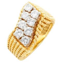 Beautiful Diamond Yellow Gold Ring