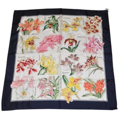 """Beautiful """"Dictionary of Floral Blooms"""" Silk Scarf"""