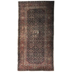 Beautiful Distressed Antique Farahan Mahal Style Rug