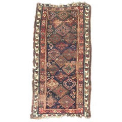 Beautiful Distressed Collectible Antique Kurdish North Western Rug