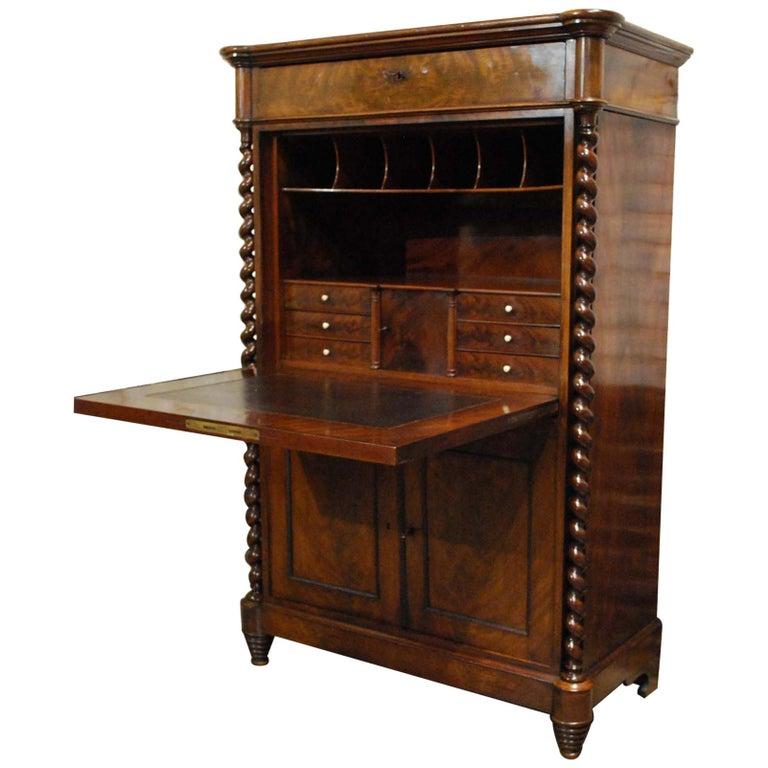 1940-50/'s #9310 Desk Gorgeous Vintage Dutch Secretary Bombe Design