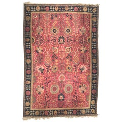 Beautiful Early 20th Century Agra Design French Janus Rug