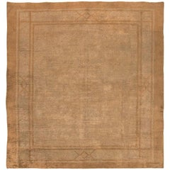 "Beautiful Earth Tone Square Size Antique Mongolian Rug. Size: 10' 6"" x 11' 3"""