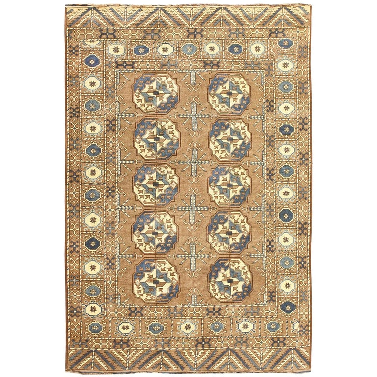 Beautiful Earthtone Antique Afghan Rug For Sale At 1stdibs