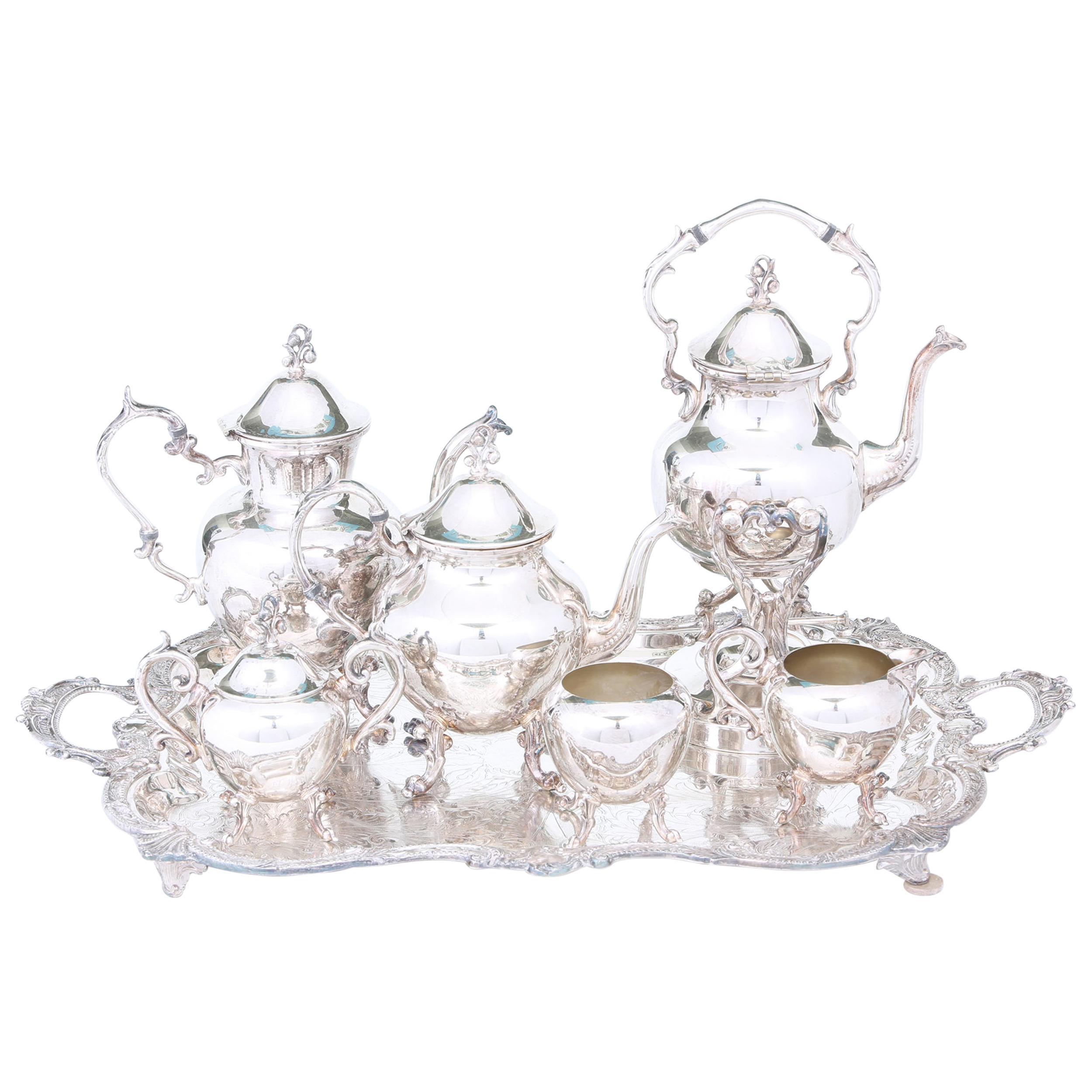 Beautiful English Silver Plate Tea / Coffee Service