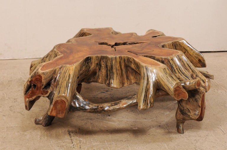 Beautiful European Tree Root Coffee Table For Sale 4