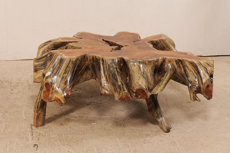 Beautiful European Tree Root Coffee Table In Good Condition For Sale In Atlanta, GA