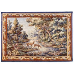 Beautiful Fine Antique Aubusson Tapestry
