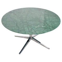 Beautiful Florence Knoll Green Marble Dining Table for Knoll International, 1961